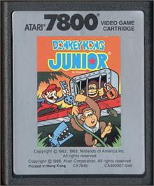 Cartridge artwork for Donkey Kong Junior on the Atari 7800.