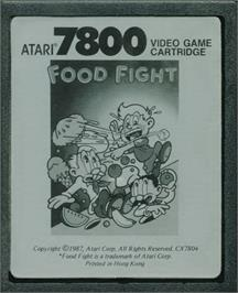 Cartridge artwork for Food Fight on the Atari 7800.