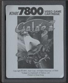 Cartridge artwork for Galaga on the Atari 7800.