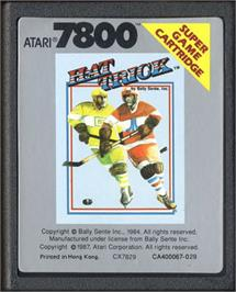 Cartridge artwork for Hat Trick on the Atari 7800.