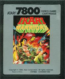 Cartridge artwork for Ikari Warriors on the Atari 7800.