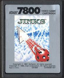 Cartridge artwork for Jinks on the Atari 7800.