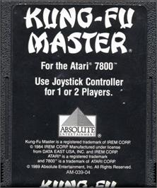 Cartridge artwork for Kung-Fu Master on the Atari 7800.