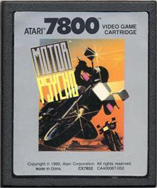 Cartridge artwork for MotorPsycho on the Atari 7800.