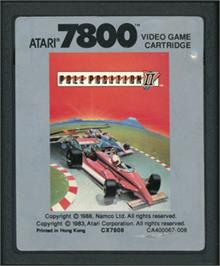 Cartridge artwork for Pole Position II on the Atari 7800.