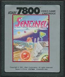 Cartridge artwork for Sentinel on the Atari 7800.
