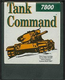 Cartridge artwork for Tank Command on the Atari 7800.