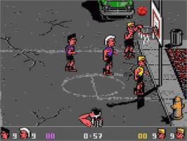 In game image of Basketbrawl on the Atari 7800.