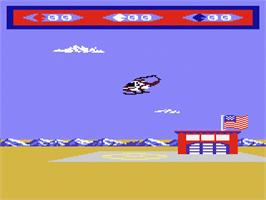In game image of Choplifter on the Atari 7800.