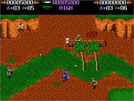 In game image of Commando on the Atari 7800.