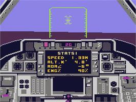 In game image of Dan Kitchen's Tomcat: The F-14 Fighter Simulator on the Atari 7800.