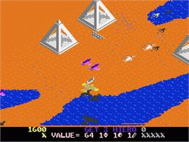 In game image of Desert Falcon on the Atari 7800.