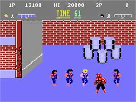 In game image of Double Dragon on the Atari 7800.