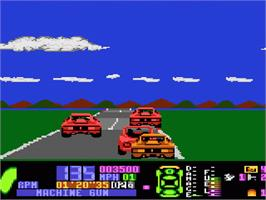 In game image of Fatal Run on the Atari 7800.