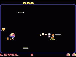 In game image of Food Fight on the Atari 7800.