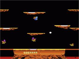 In game image of Joust on the Atari 7800.