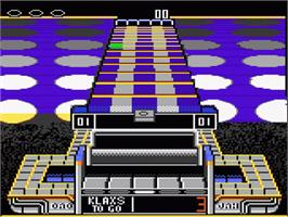 In game image of Klax on the Atari 7800.