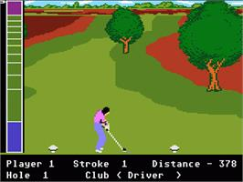 In game image of Mean 18 Golf on the Atari 7800.
