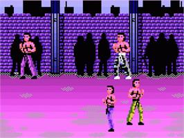 In game image of Pit Fighter on the Atari 7800.