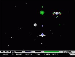 In game image of Planet Smashers on the Atari 7800.