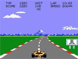 In game image of Pole Position II on the Atari 7800.