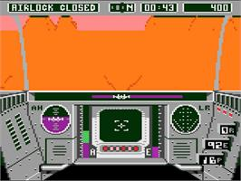 In game image of Rescue on Fractalus on the Atari 7800.