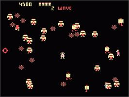 In game image of Robotron on the Atari 7800.