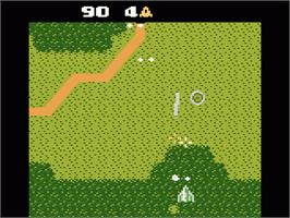 In game image of Xevious on the Atari 7800.