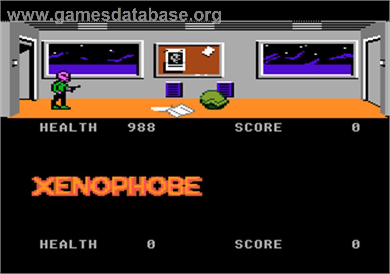 Xenophobe Atari 7800 Artwork In Game