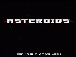 Title screen of 3D Asteroids on the Atari 7800.
