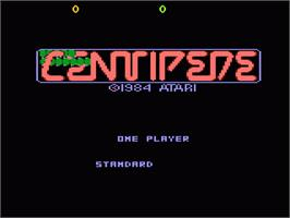 Title screen of Centipede on the Atari 7800.