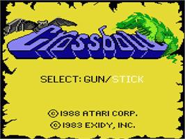 Title screen of Crossbow on the Atari 7800.