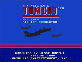 Title screen of Dan Kitchen's Tomcat: The F-14 Fighter Simulator on the Atari 7800.