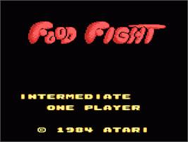 Title screen of Food Fight on the Atari 7800.