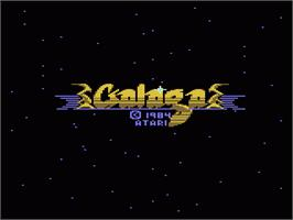 Title screen of Galaga on the Atari 7800.