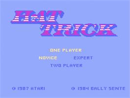 Title screen of Hat Trick on the Atari 7800.