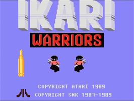 Title screen of Ikari Warriors on the Atari 7800.