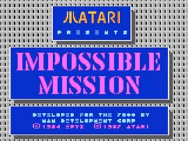 Title screen of Impossible Mission on the Atari 7800.