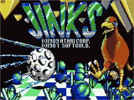 Title screen of Jinks on the Atari 7800.