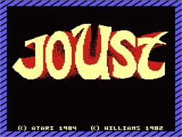 Title screen of Joust on the Atari 7800.
