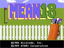 Title screen of Mean 18 Golf on the Atari 7800.