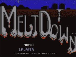 Title screen of Meltdown on the Atari 7800.