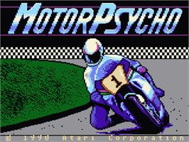 Title screen of MotorPsycho on the Atari 7800.