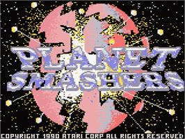 Title screen of Planet Smashers on the Atari 7800.