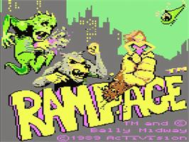 Title screen of Rampage on the Atari 7800.