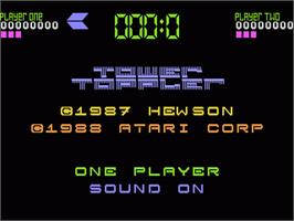 Title screen of Tower Toppler on the Atari 7800.
