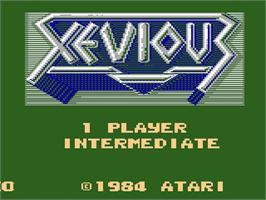 Title screen of Xevious on the Atari 7800.