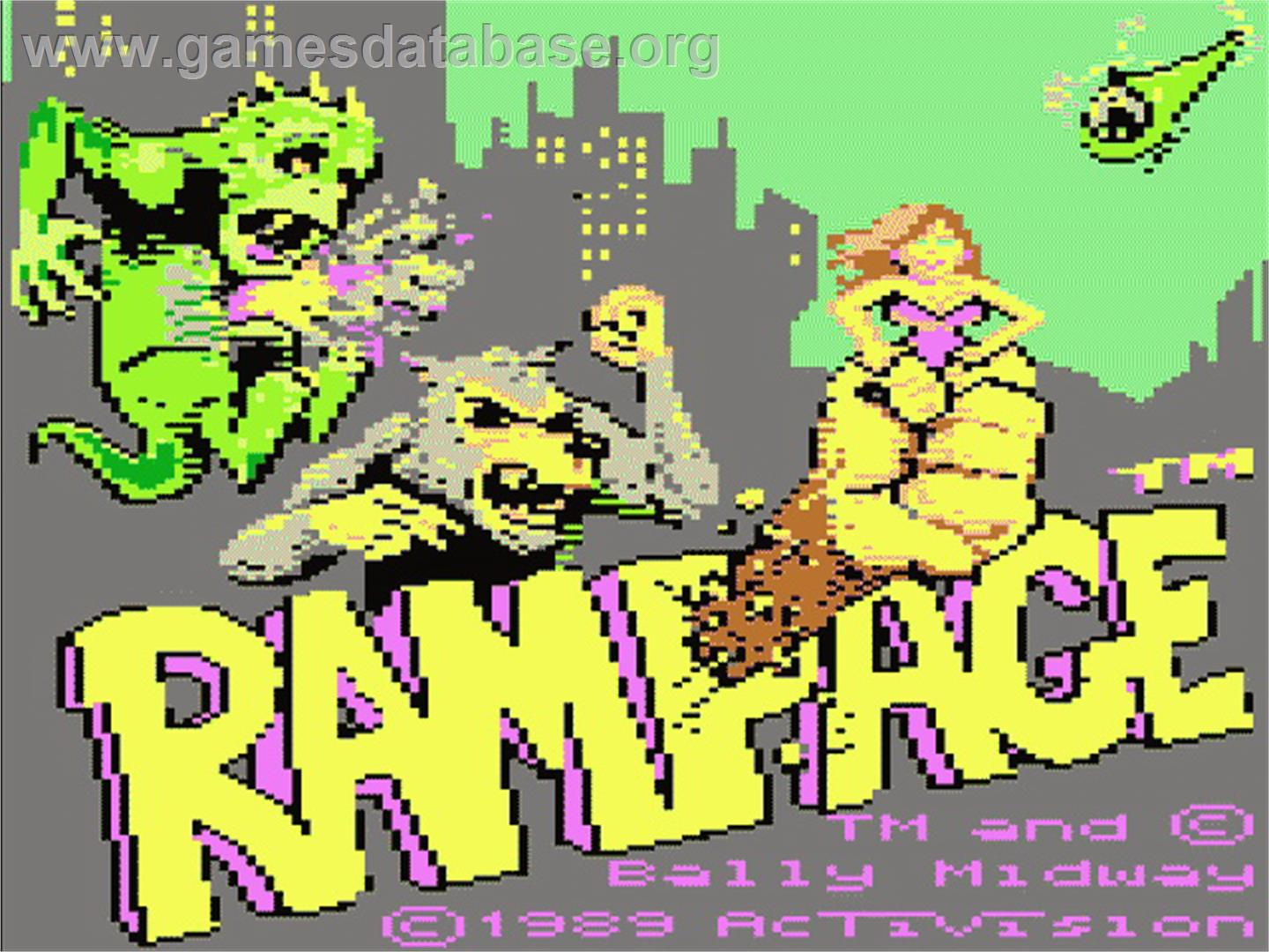 Rampage - Atari 7800 - Artwork - Title Screen