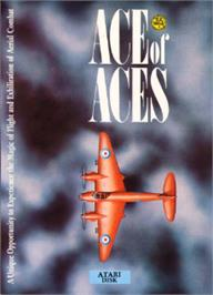 Box cover for Ace of Aces on the Atari 8-bit.