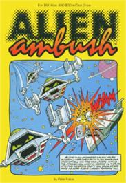 Box cover for Alien Ambush on the Atari 8-bit.